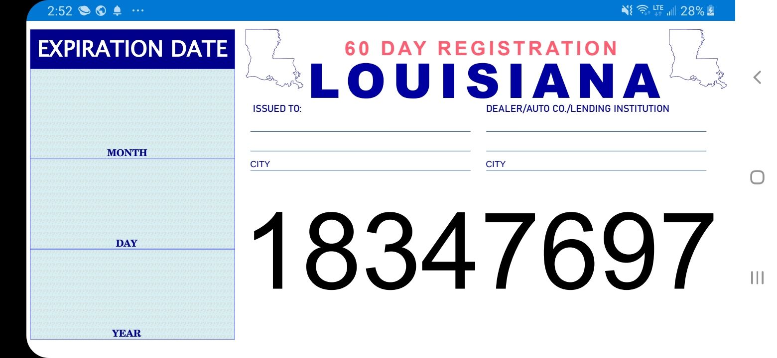 Pin On Temp Tag License plate template printable free