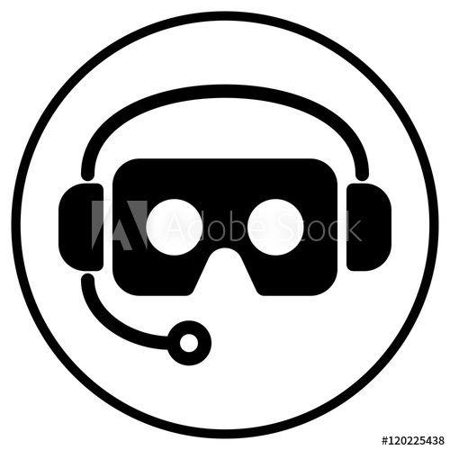 Cardboard Virtual Reality Vr Glasses And Headphone Icon Logo On Virtual Reality Glasses Vr Glasses Virtual Reality