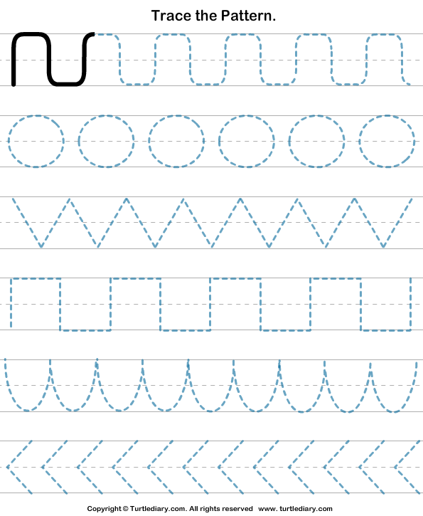 Drawing Lines Year : Draw pattern worksheets ders zamanı pinterest