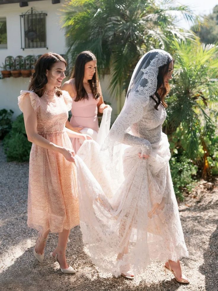 This Stylist Wore 5 Different Looks to Her Effortlessly Elegant Wedding in Montecito | Vogue #wedding #weddingdress #weddingstyle #montecitowedding