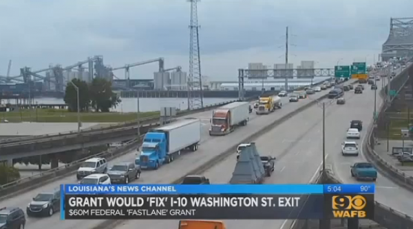 $60 Million Federal Grant To Fix Notorious I-10 Bottleneck In Baton Rouge
