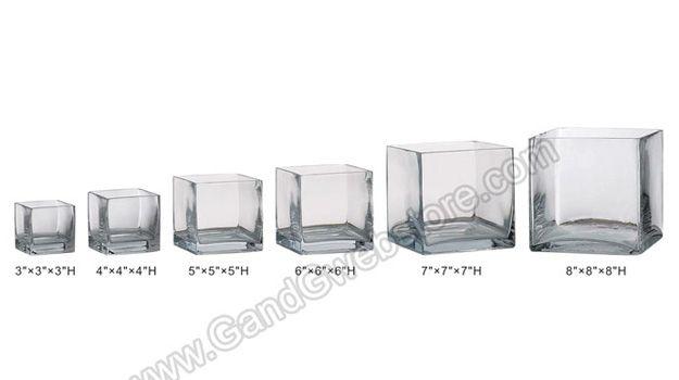 "4"" X 4"" X 4"" CUBE VASE CLEAR - GandGwebStore.com"
