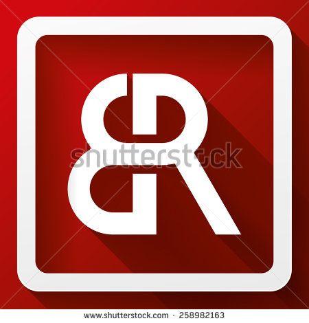 R Symbol Logo Elegant minimal icon s...