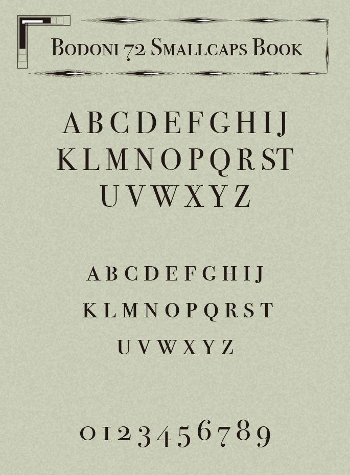 Bodoni 72 Small Caps Book Font