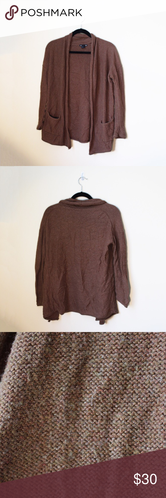 Oversized Brown Cardigan A warm, cozy long cardigan perfect for ...