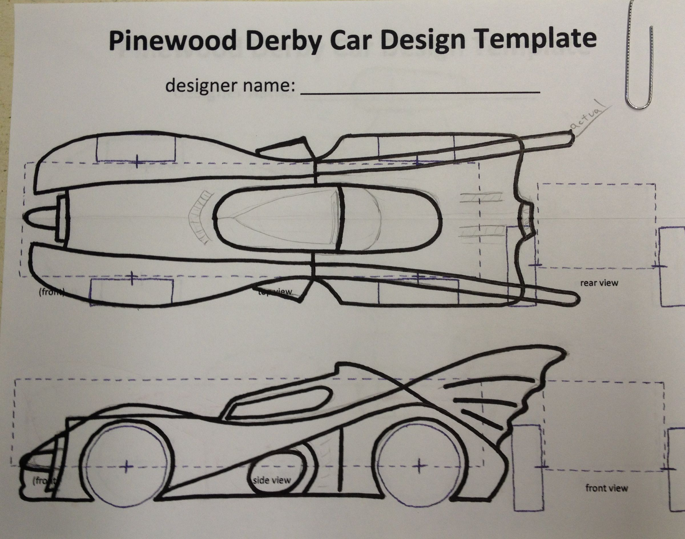 I started with some scrap pine 1 6 wood that i had laying for Bsa pinewood derby templates