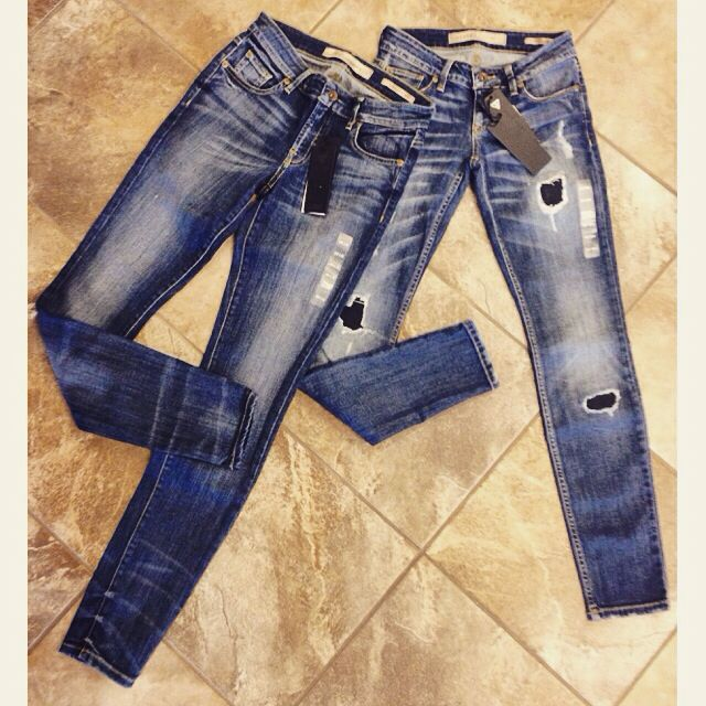 New silver jeans