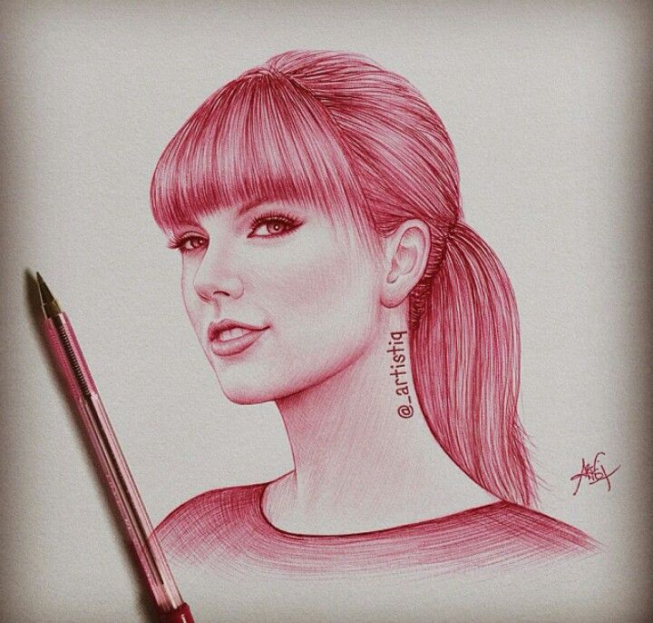 Drawing Of Taylor Swift Red Taylor Swift Drawing Celebrity