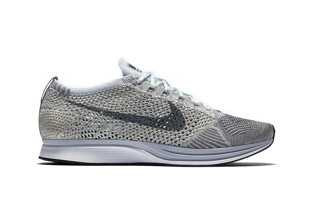 """Nike's Popular Flyknit Racer Silhoutte Dons a """"Pure Platinum"""" Colorway"""