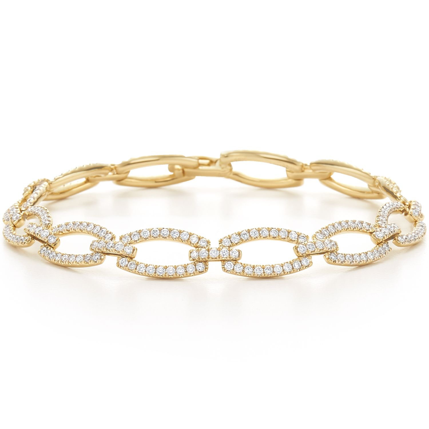 product monica large bracelet yellow gold metallic friendship rainbow metallica vinader linear