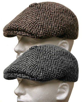 Italian Wool Tweed Gatsby Newsboy Cap Men Ivy Hat Golf Driving