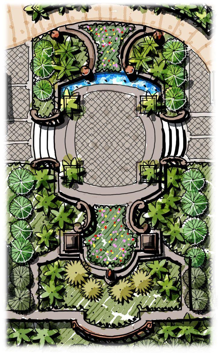 Landscape Elevated Platform, Landscape Stairs, Flower Bed