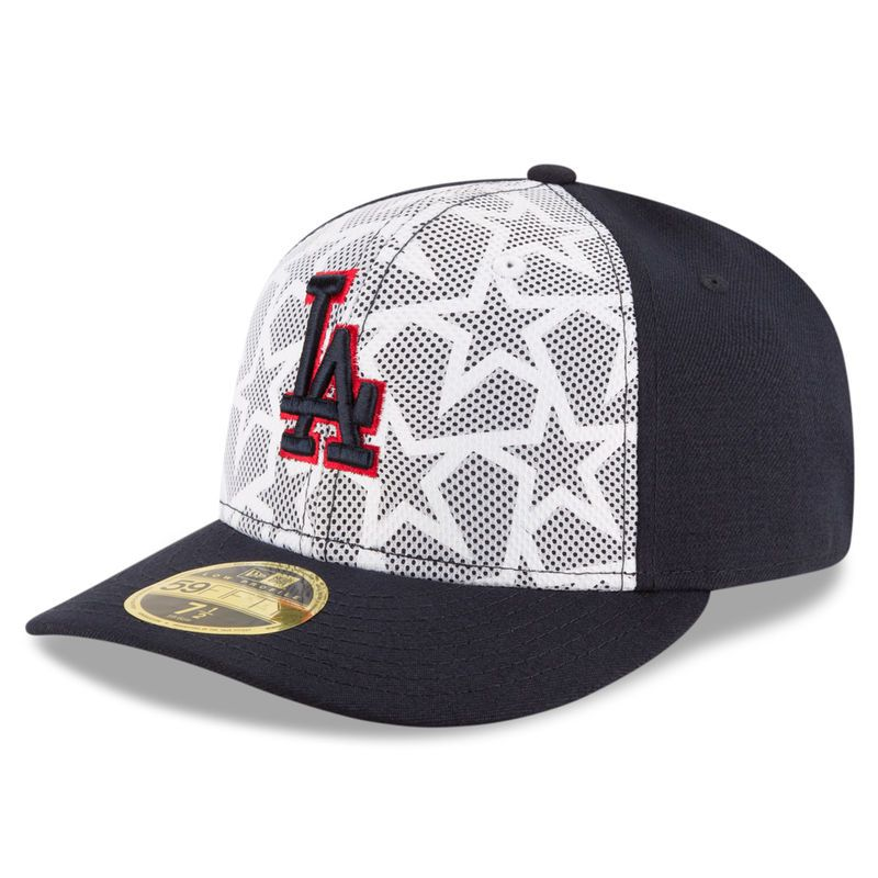 Los Angeles Dodgers New Era Stars & Stripes Low Profile 59FIFTY Fitted Hat - White/Navy