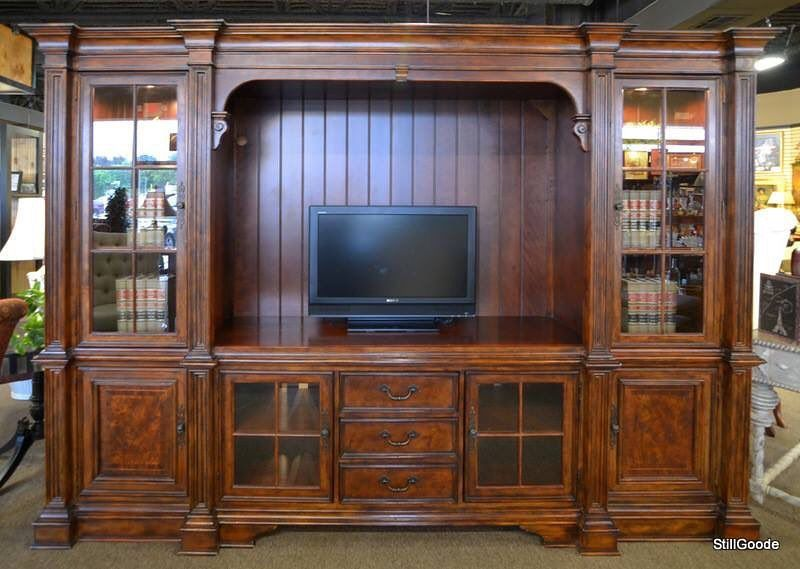 Extra Large Entertainment Center With Display Cabinets 1695 At Stillgoode
