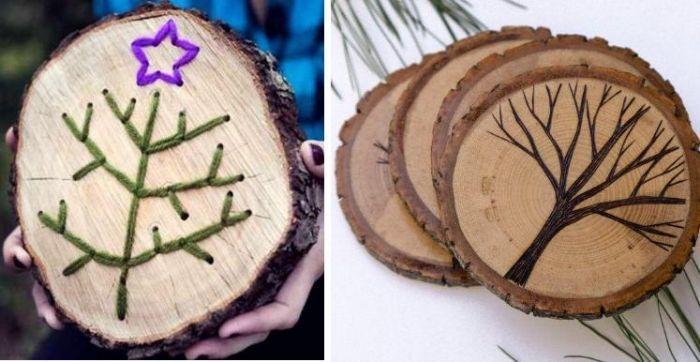 Adventszeit Basteln Baumscheibe Untersetzer Kreative Ideen Für  Weihnachtsdeko.jpeg (700×362)