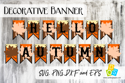 Download Hello Autumn Party Banner Free SVG Cut Files #helloautumn