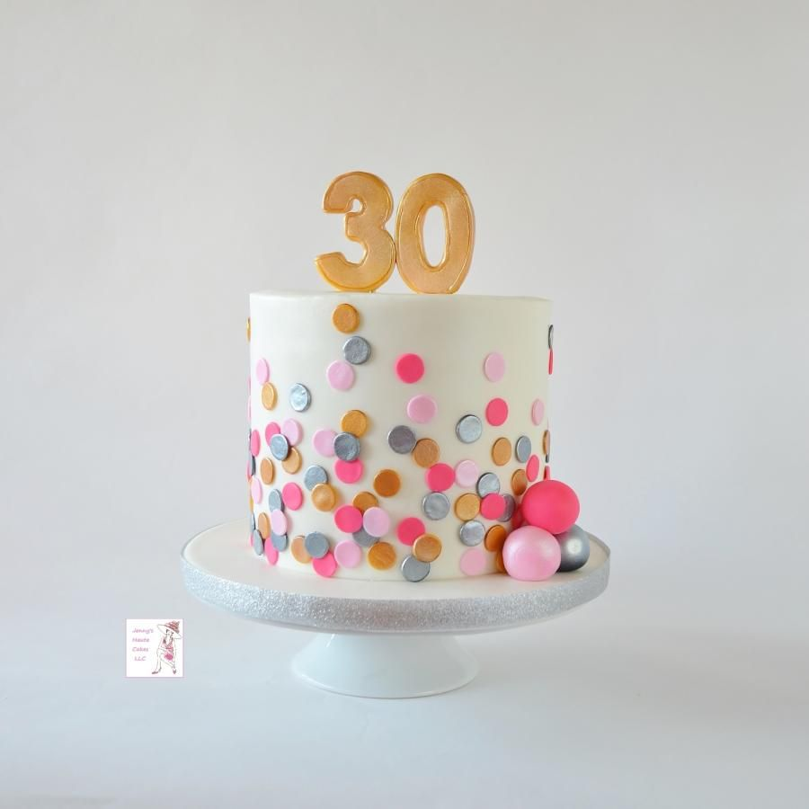 Astonishing Polka Dot Birthday Cake By Jenny Kennedy Jennys Haute Cakes With Funny Birthday Cards Online Inifodamsfinfo