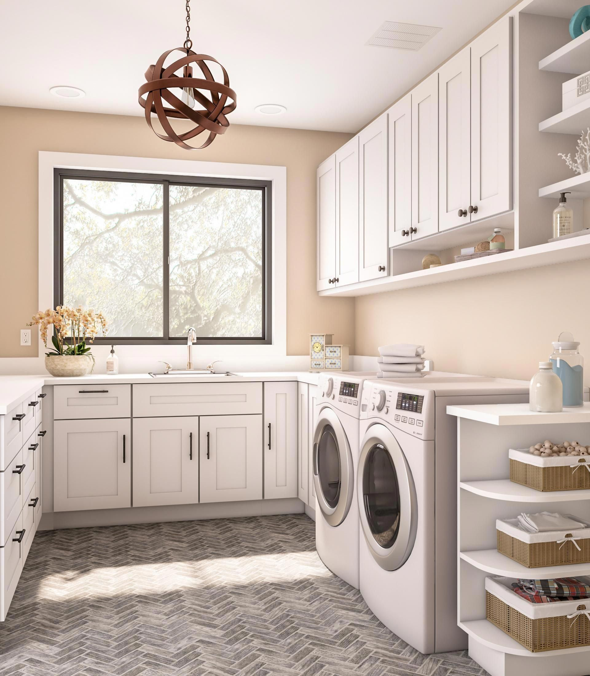 Escape Gray Kitchen: The Laundry-room Refresh Is All The Rage These Days. No