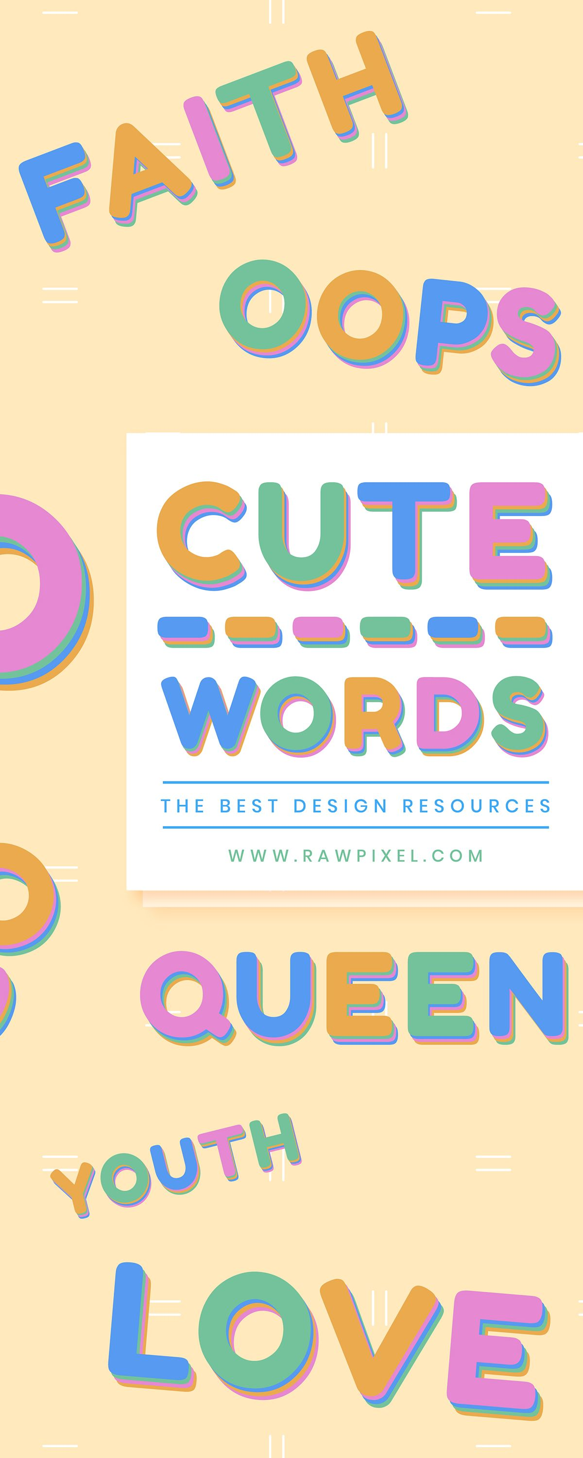 HighDefinition Cute Boldface Font Word Typography Design
