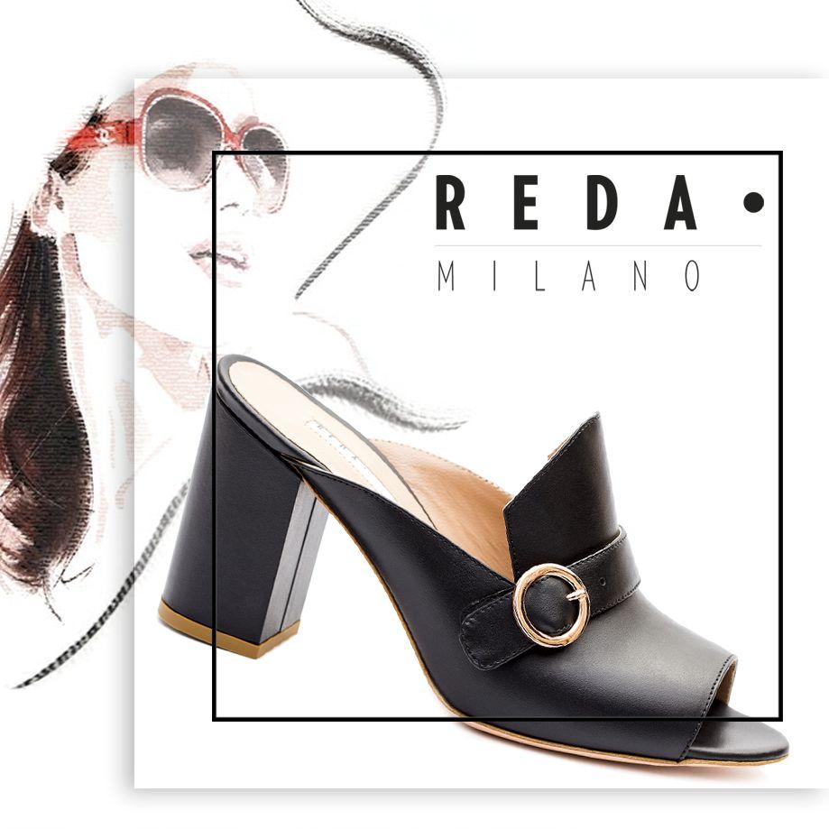 Misa reda milano trendy shoes heeled mules women shoes