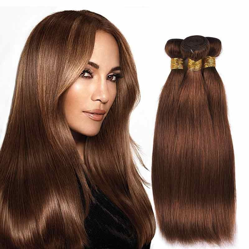 Brazilian Peruvian Straight Hair 3 Bundles Human Hair Weave 30