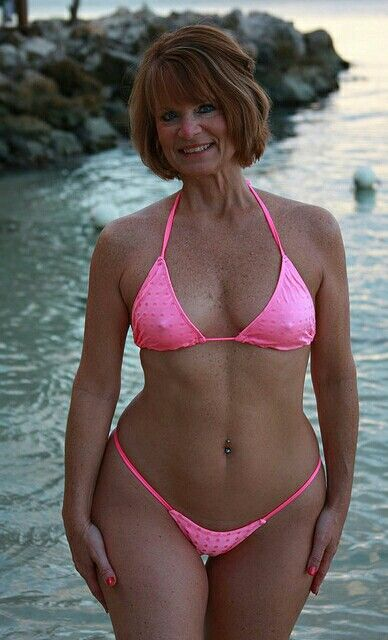mature older bikini models