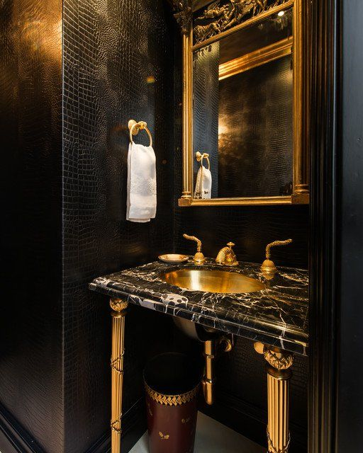 17 Bespoke Black Gold Interiors That Steal The Show Powder