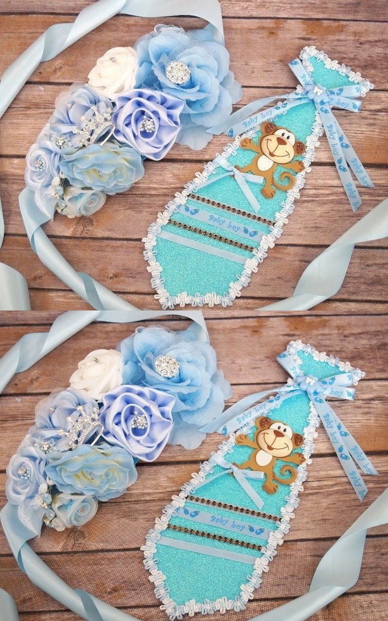 Badges And Pins 177758 Baby Shower Boy Sash Corsage Maternity