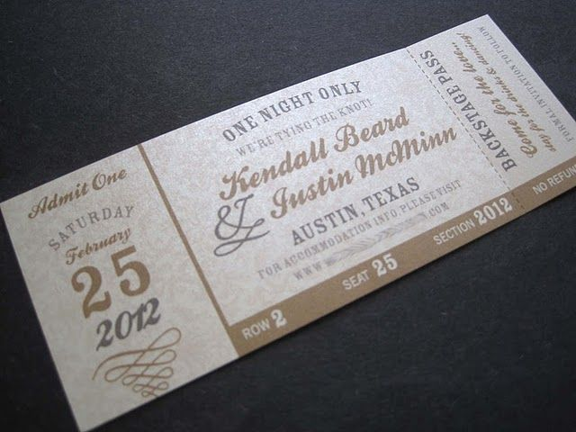 Save the date concert ticketthis is it! Perfect!! Now to find - how to make a concert ticket
