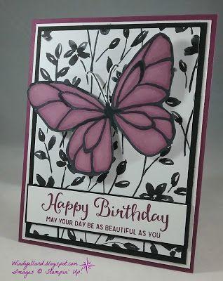 Windys Wonderful Creations Happy Beautiful Day Birthday Stampin