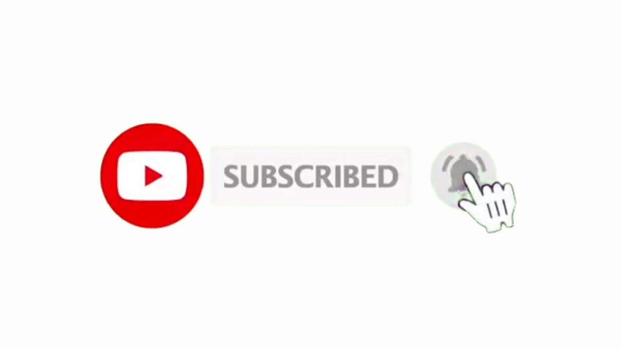 No background subscription button and Bell icon video for YouTube - vozeli. com