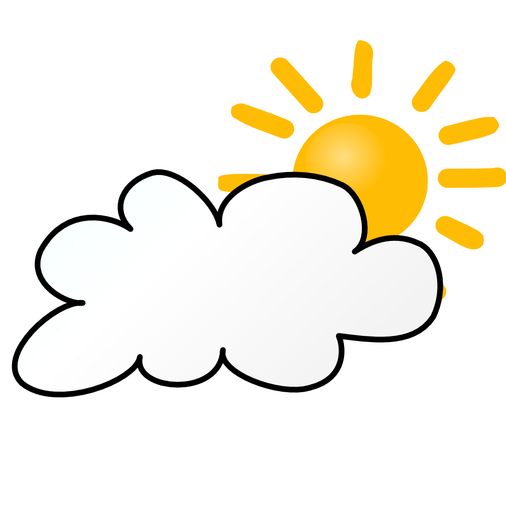 Weather Symbols Cloudy Day Weather Symbols Free Clip Art Cloudy Day
