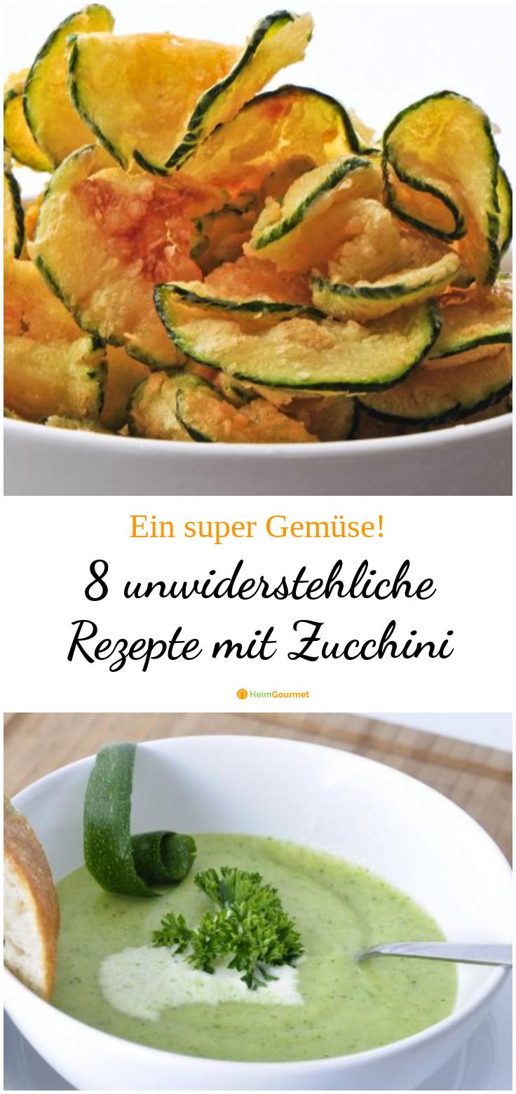 Der Sommer neigt sich dem Ende zu, doch wir bekommen vom Sommergemüse trotzdem nicht genug! Vor allem Zucchini ist eine unserer Lieblingssorten, weil man damit unglaublich viele leckere und einfache Rezepte kochen kann. Hier sind unsere Favoriten... #zucchini #zucchinisuppe #zucchinichips #rezepte #leichterezepte #ratatouille #heimgourmet