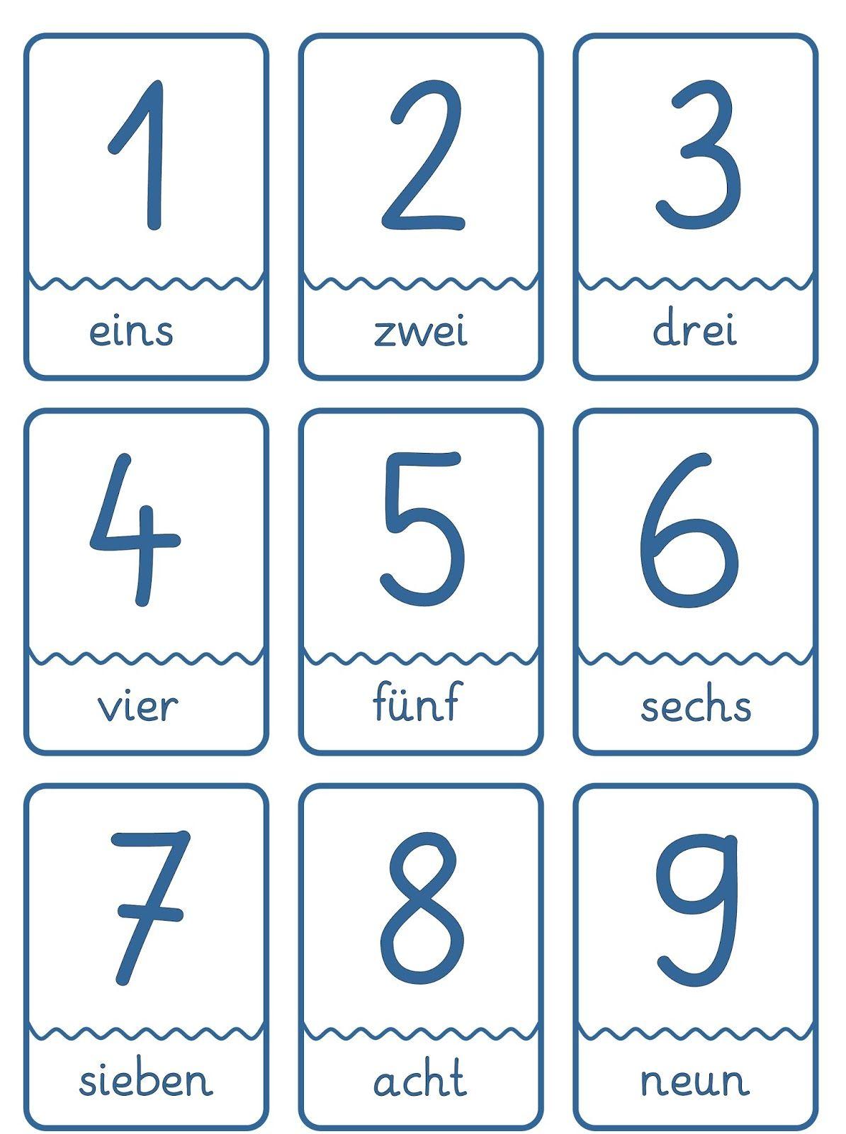Lernstubchen Zahlenkarten Fur Den Daz Unterricht