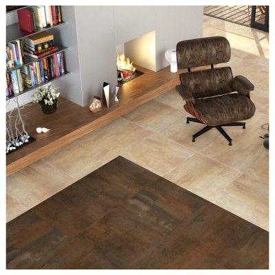 carrelage dorian couleurs beige et oxyde marron maison salon contemporain salon et couleur. Black Bedroom Furniture Sets. Home Design Ideas