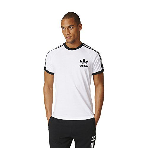 Adidas Originals Mens California Tee White Medium ** You