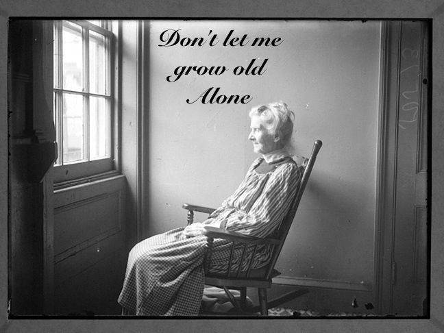 Don T Let Me Grow Old Alone Emotions Old Lady Cartoon