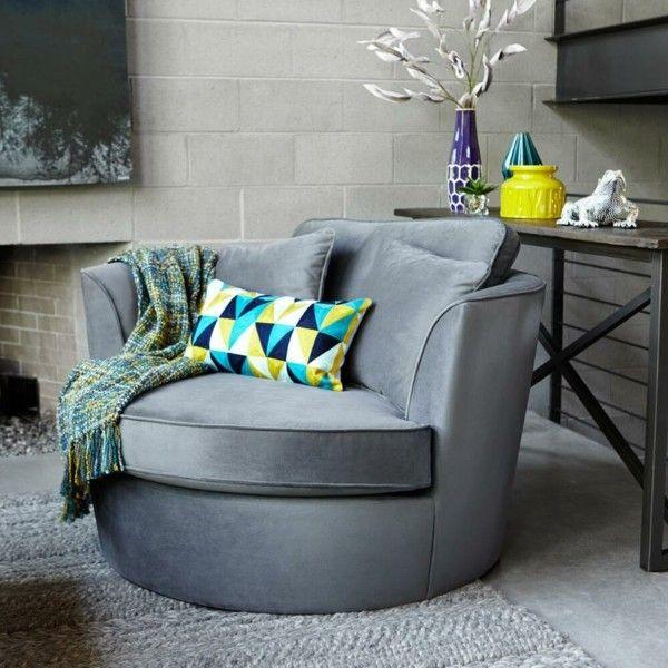 Elegant Zimmer Einrichten Moderner Sessel Farbige Accessoires