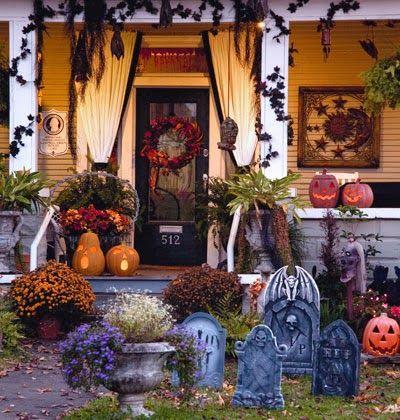 15 Halloween Porch Decor Ideas Decoración día de muertos - halloween house decorating ideas