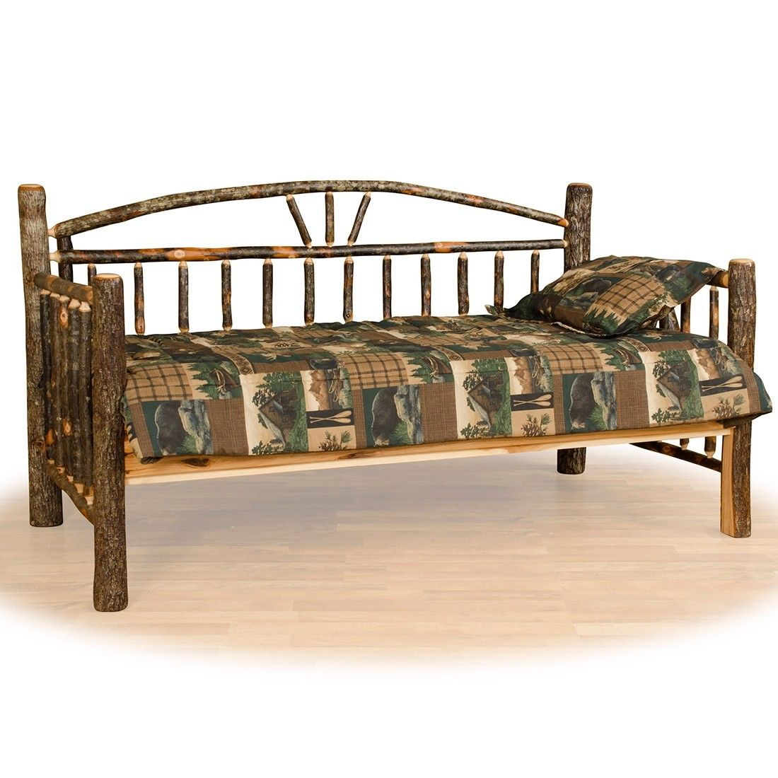 Real Hickory Sunrise Log Daybed Barn Furniture Rustic Furniture
