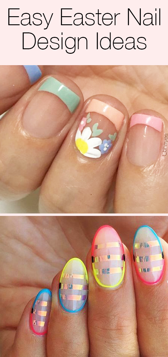 These 2018 Easter Nail Designs Have Ideas For Short Nails Long Nails Acrylic Nails And Just About Everyone In 2020 Easter Nails Easter Nail Designs Easter Nail Art