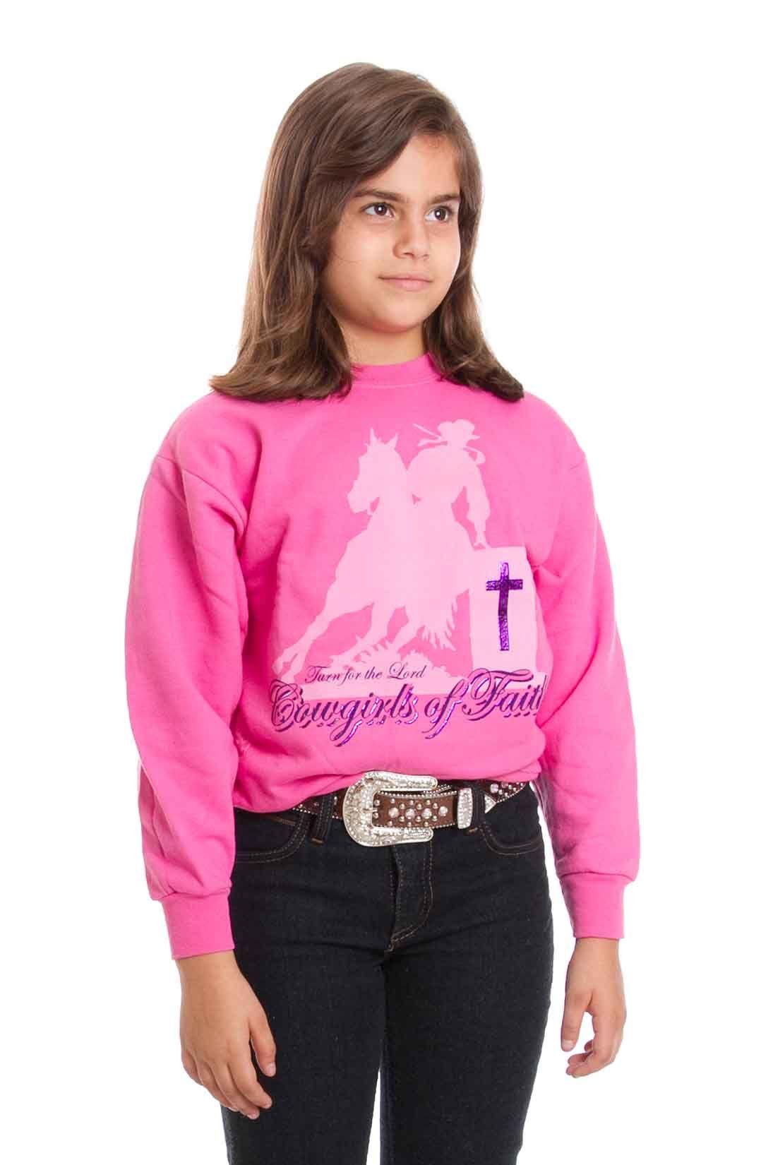 moletom Infantil Cowgirls Of Faith Rosa Blusa moletom feita em algodão e  poliester 1f17cffd2be