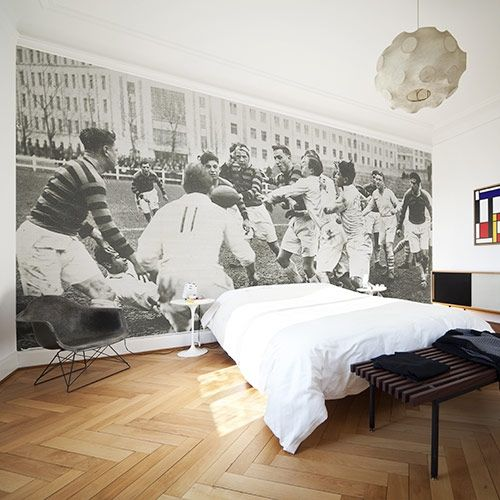 Vintage Rugby Wall Mural Wall Murals Cool Wallpapers For Walls Feature Wallpaper