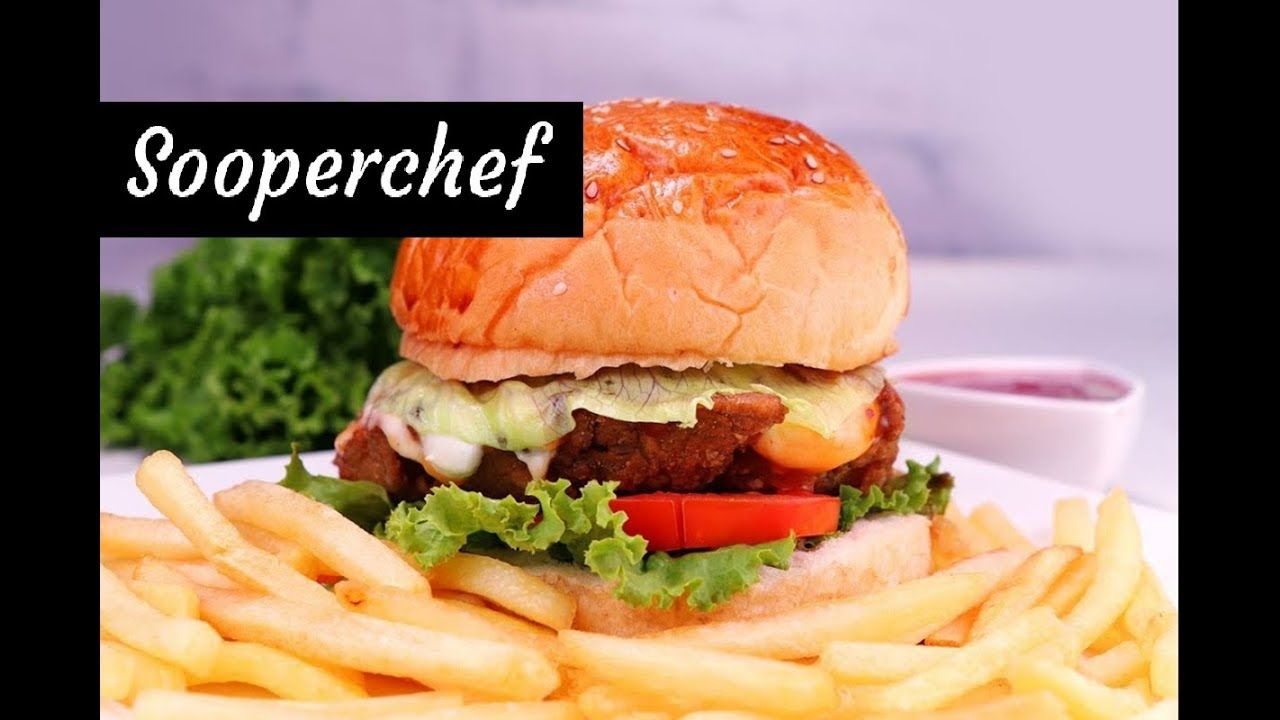 Crispy Chicken Burger Recipe Zinger Burger By Sooperchef Chicken Burgers Crispy Chicken Burgers Burger Recipes