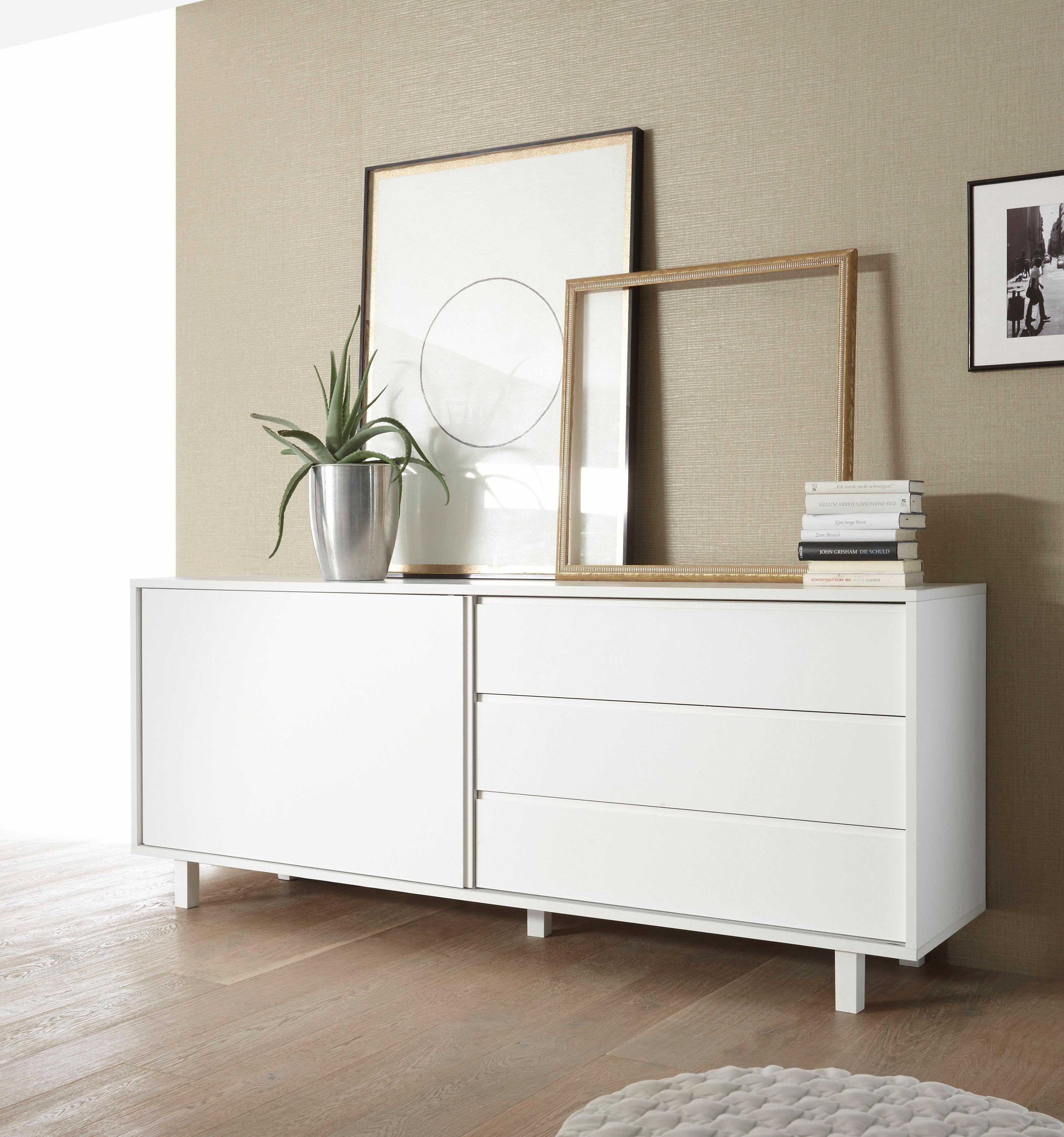 Inspirierend Sideboard Beleuchtet Referenz Von Lc Weiß, Füße Aus Kunststoff, »o«, Mit