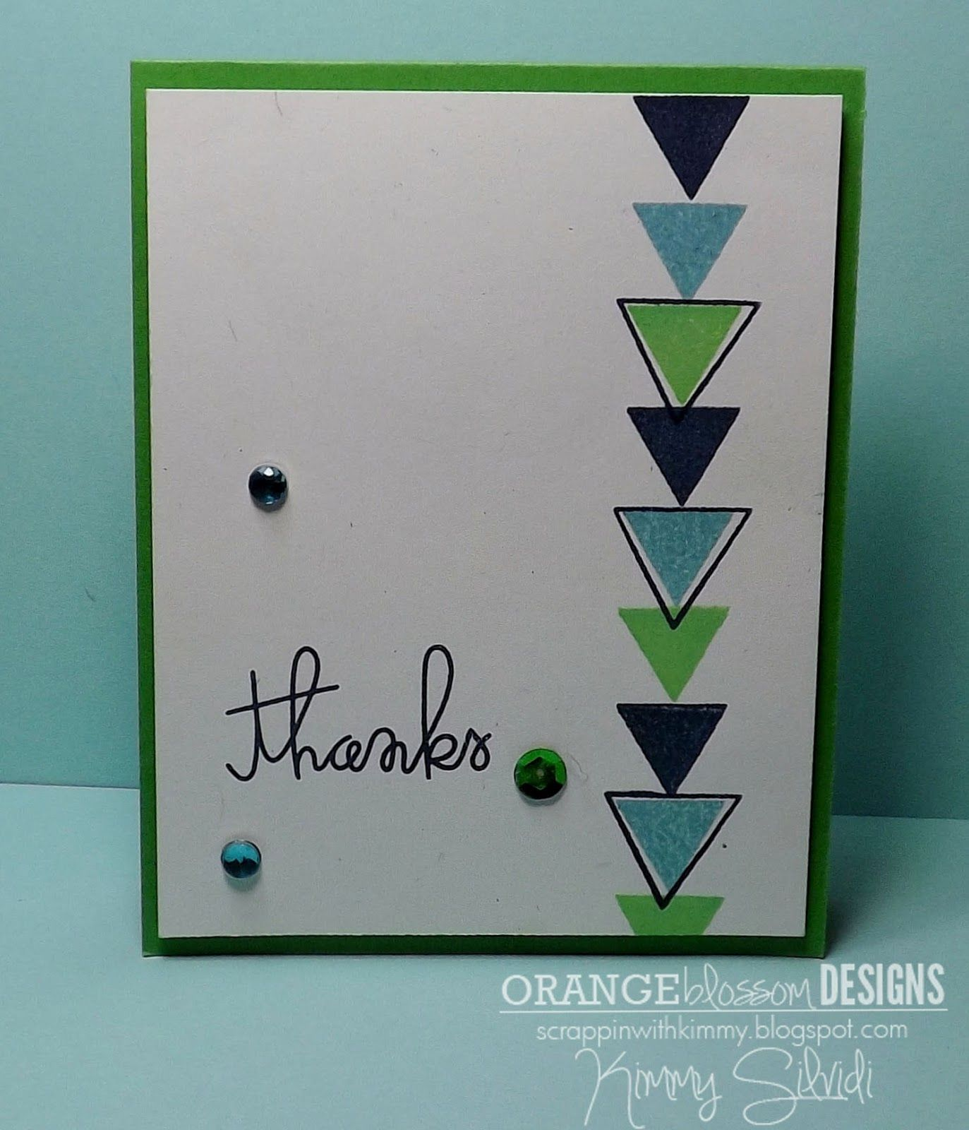 by Kimmy Silvidi, Orange Blossom Designs, using Paper Smooches stamps
