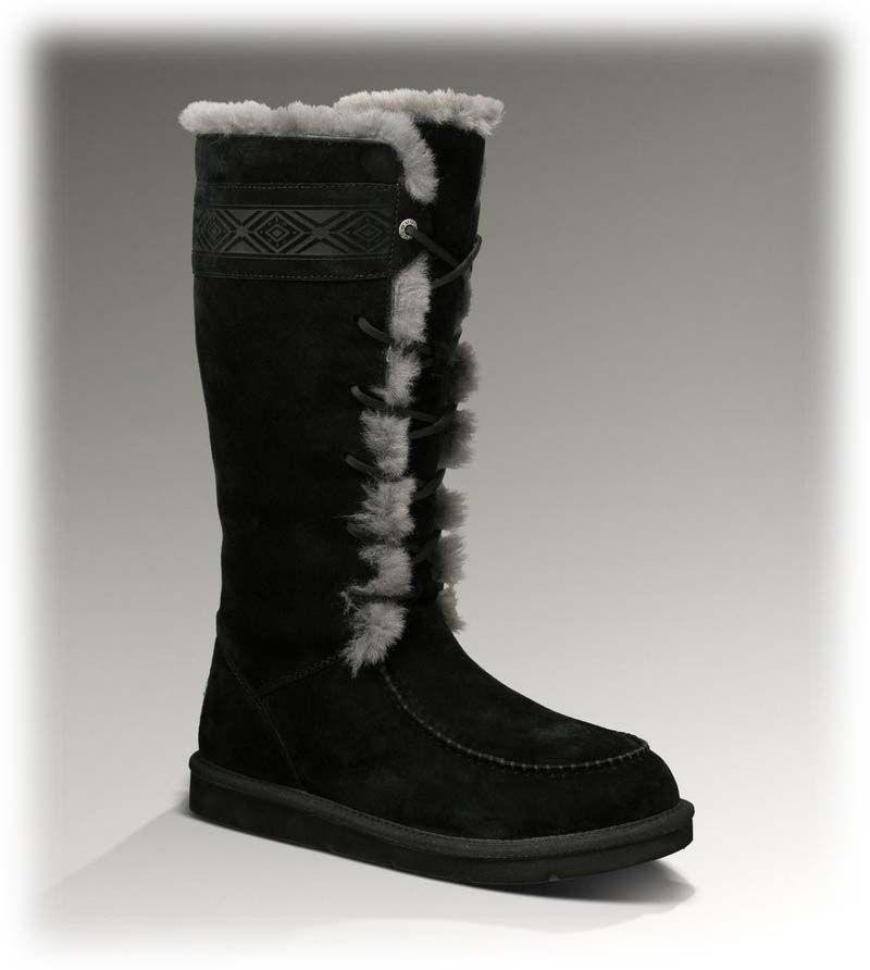 womens ugg tularosa 3331 black boots ugg boots discount