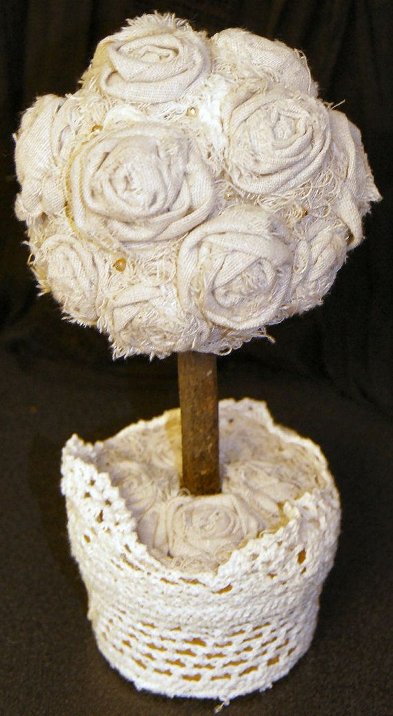 Rosette Topiary Rose Topiary Wedding Decor Wedding by funkologie, $35.00
