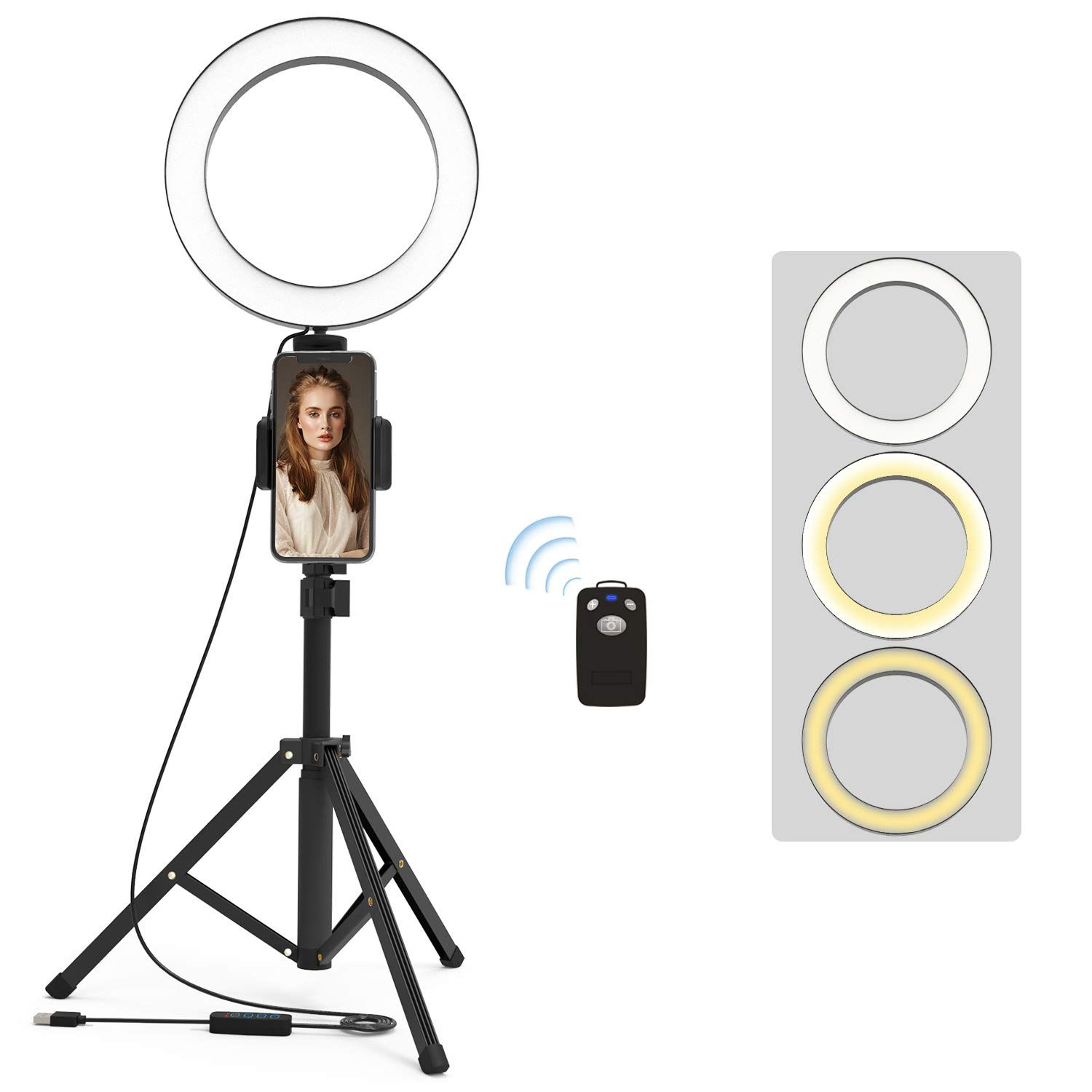Neewer 12 Inch Inner 14 Inch Outer Led Ring Light And Light Stand 36w 5500k Lighting Kit With Soft Tube Color Filter Hot Led Ring Light Led Ring Color Filter