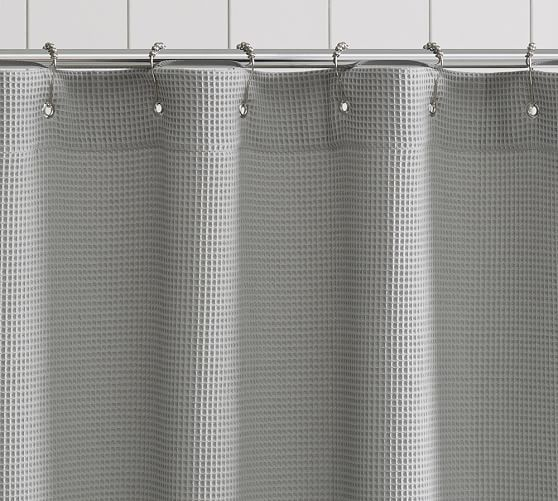 Waffle Weave Shower Curtain Gray Shower Curtains Bathroom Shower Curtains Small Bathroom